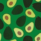 Bezszwowy wektoru wzór z rżniętymi i całymi avocados ilustracja wektor