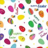 Bezszwowy wektoru wzór z Wielkanocnymi jajkami Zdjęcie Royalty Free