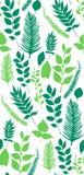 Bezszwowy wektoru wzór z zielonymi liśćmi Zdjęcia Stock