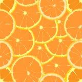 Bezszwowy wektoru wzoru udział pomarańcze Zdjęcia Royalty Free