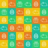 Bezszwowy Wielkanocny tło Zdjęcia Royalty Free