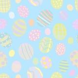 Bezszwowy Wielkanocnych jajek wzór Zdjęcie Royalty Free