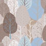 Bezszwowy wielostrzałowy abstrakcjonistyczny tło abstrakcjonistyczni drzewa royalty ilustracja