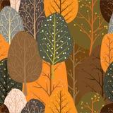 Bezszwowy wielostrzałowy abstrakcjonistyczny tło abstrakcjonistyczni drzewa ilustracji