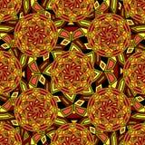 Bezszwowy wielostrzałowy deseniowy składać się z barwiony mandal royalty ilustracja