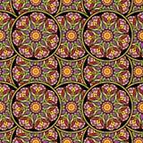 Bezszwowy wielostrzałowy wzór barwioni mandalas ilustracja wektor