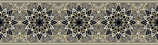 Bezszwowy wielostrzałowy wzór dla rabatowego projekta royalty ilustracja
