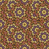 Bezszwowy wielostrzałowy wzór barwioni mandalas Obrazy Stock