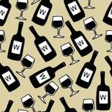 Bezszwowy wino wzór Fotografia Royalty Free