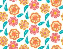 Bezszwowy wiosna kwiatu wzór na białym tle Fotografia Stock