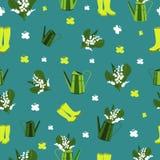 Bezszwowy wiosna wzór Obraz Royalty Free