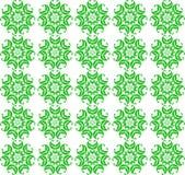Bezszwowy wiosna wzór zielony abstrakt kwitnie na bielu Zdjęcia Royalty Free