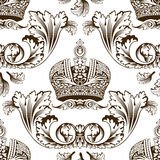 bezszwowy wystroju ornament cesarski nowy Obrazy Royalty Free