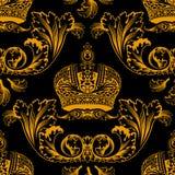 bezszwowy wystroju ornament złocisty nowy Obraz Royalty Free