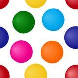 Bezszwowy wzór z jaskrawymi kolorowymi sferami również zwrócić corel ilustracji wektora royalty ilustracja