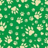 Bezszwowy wzór ślada psie ` s łapy Obraz Stock