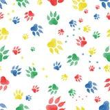 Bezszwowy wzór ślada psie ` s łapy Zdjęcia Royalty Free