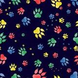 Bezszwowy wzór ślada psie ` s łapy Fotografia Royalty Free