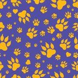 Bezszwowy wzór ślada psie ` s łapy Vektor Zdjęcie Royalty Free