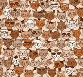 Bezszwowy wzór śliczni koty ilustracji