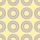 Bezszwowy wzór abstrakcjonistyczne poligonalne łamać niebieskie linie postacie na beżowym tle, wektorowa ilustracja Obraz Stock