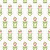 Bezszwowy wzór abstrakt kwitnie na bladych ślimacznicach Obraz Royalty Free