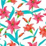 Bezszwowy wzór akwarela kwiaty Obraz Royalty Free