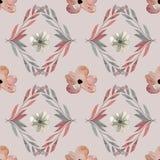 Bezszwowy wzór - akwarela malował jesień kwiatów wzór Zdjęcie Stock