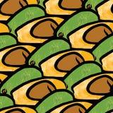 Bezszwowy wzór avocados ilustracja wektor