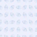 Bezszwowy wzór babeczki Fotografia Stock