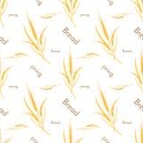 Bezszwowy wzór banatka i chleb Zdjęcie Stock