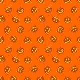 Bezszwowy wzór banie Szczęśliwy haloween również zwrócić corel ilustracji wektora obraz stock