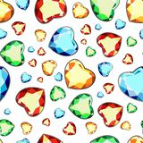 Bezszwowy wzór barwiący diamenty na białym tle ilustracja wektor