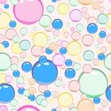 Bezszwowy wzór barwioni bąble Zdjęcie Stock