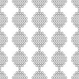 Bezszwowy wzór biel okręgi z konturem Fotografia Royalty Free