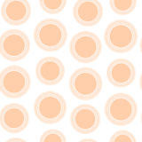 Bezszwowy wzór brzoskwinia okręgi Obrazy Stock