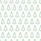 Bezszwowy wzór choinki, odizolowywa na białym tle Obraz Royalty Free