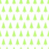 Bezszwowy wzór choinki, odizolowywa na bielu Zdjęcia Royalty Free
