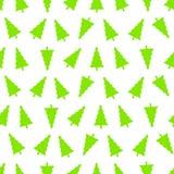 Bezszwowy wzór choinki, odizolowywa na bielu Zdjęcia Stock