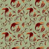 Bezszwowy wzór corvus corax Obrazy Royalty Free