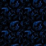 Bezszwowy wzór corvus corax Fotografia Stock