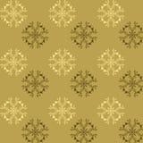 Bezszwowy wzór cudaccy kwiaty w brązu i złota brzmieniach Fotografia Royalty Free