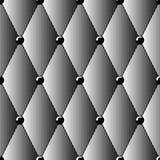 Bezszwowy wzór czarni halftone diamenty imituje rzemiennego tapicerowanie Tło materiał dla meblarskiej tapety i wnętrza Zdjęcia Stock