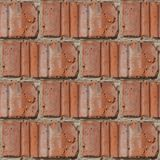 Bezszwowy wzór czerep czerwona kamienna ściana obrazy stock