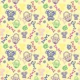 Bezszwowy wzór dla tkanin Zdjęcie Stock