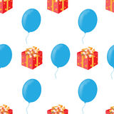 Bezszwowy wzór dla urodziny Zdjęcia Stock