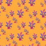 Bezszwowy wzór, druk dom rośliny w garnkach royalty ilustracja