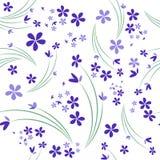 Bezszwowy wzór dzicy fiołki na białym tle royalty ilustracja