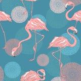 Bezszwowy wzór flamingi royalty ilustracja