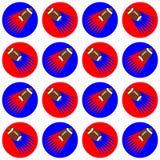 Bezszwowy wzór futbol amerykański piłki Zdjęcia Royalty Free